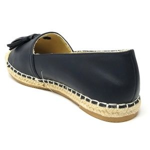 Forever Young Shoes - Women Espadrille Flats with Tassels, B-2605, Navy